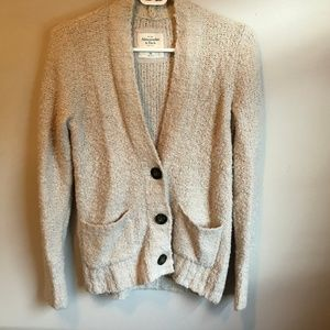 Abercrombie. Knit cardigan - oatmeal.